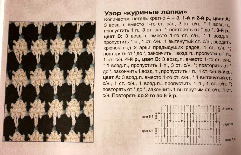 Зимняя юбка схема 2