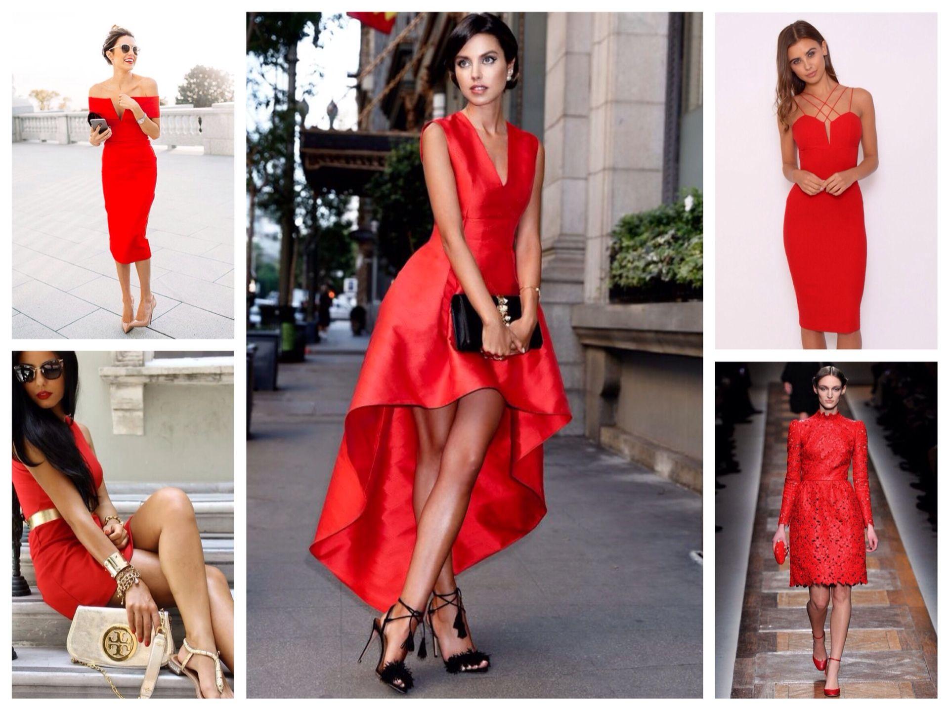 Украшения на красное платье 1
