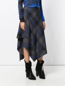 асимметричная юбка из твида