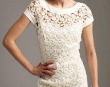ажурное платье крючком