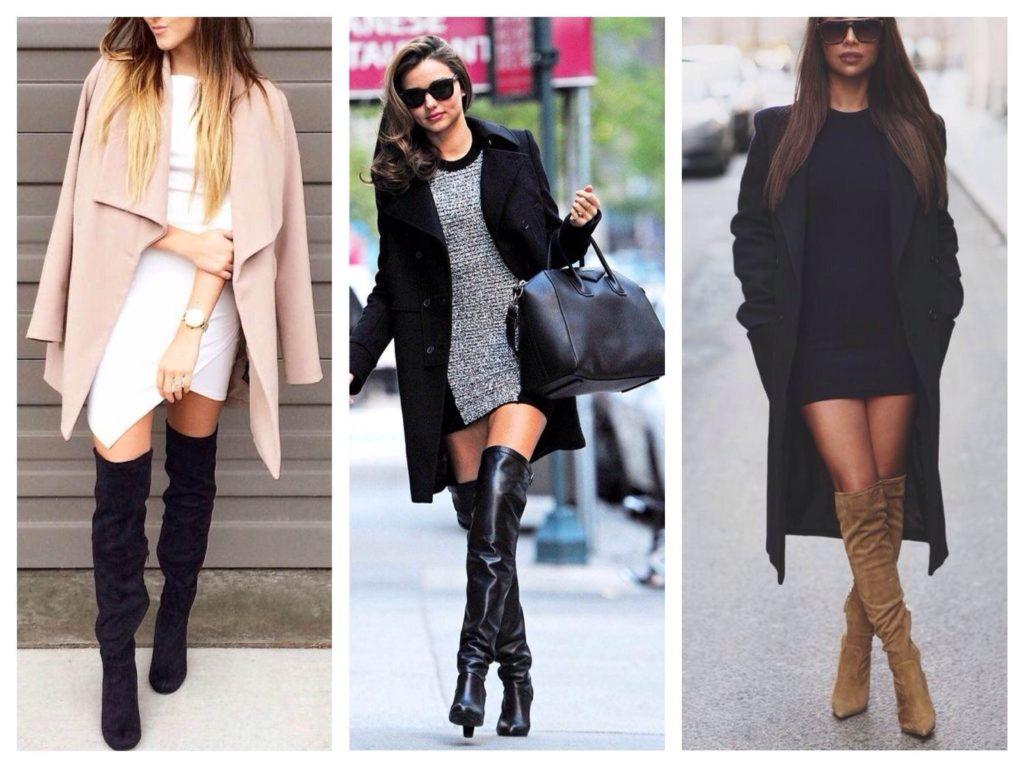 ботфорты платье и пальто