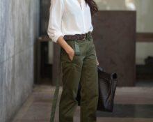 брюки с сапогами