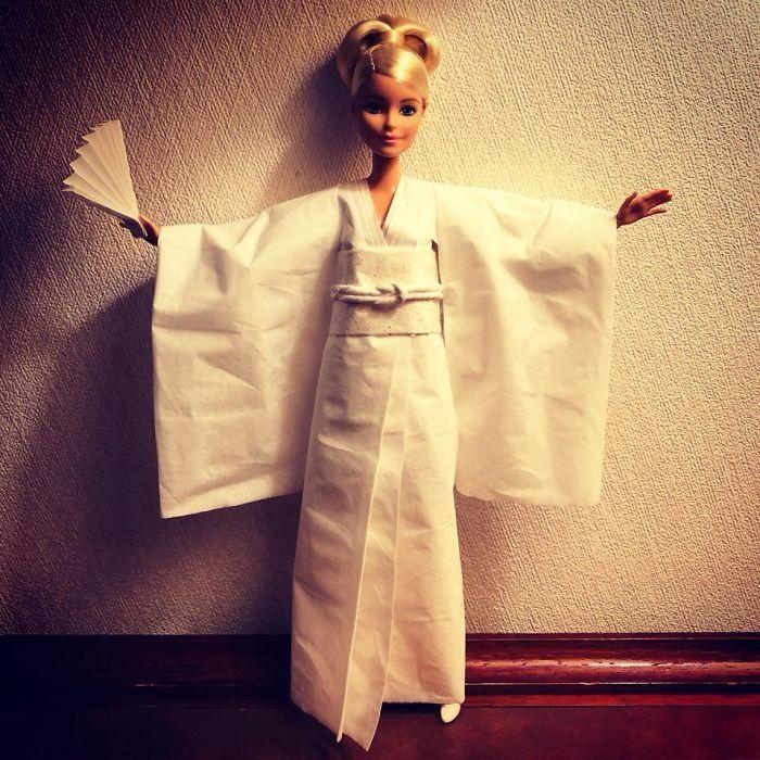 Японское платье из салфеток