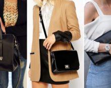 с чем носить черную сумку