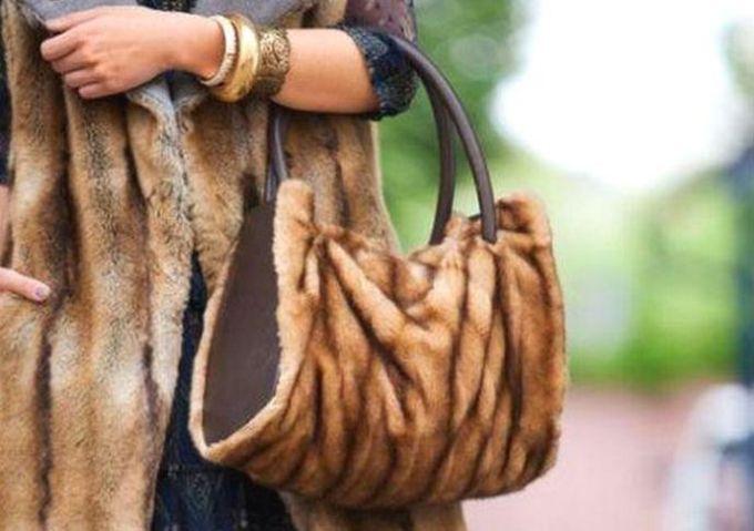 сумка из меха