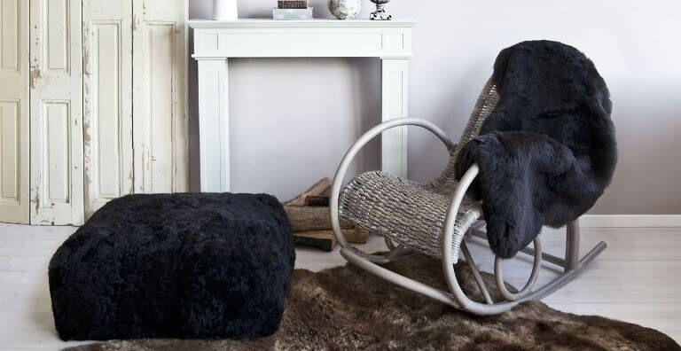 меховые накидки на кресло