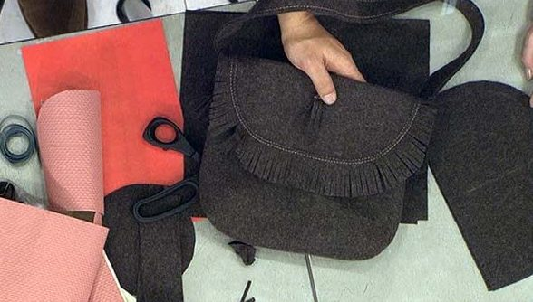 сумка из старого пальто