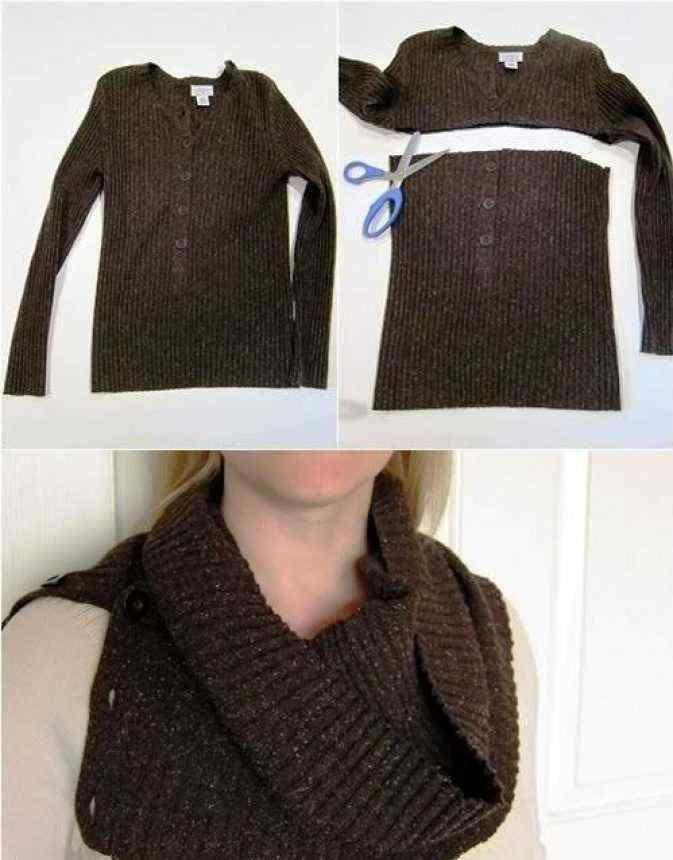 шарф из свитера