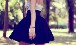 юбка клеш