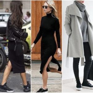 чёрные кроссовки зимой