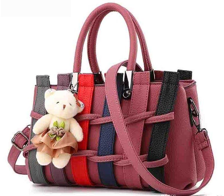 Розово-серая сумка