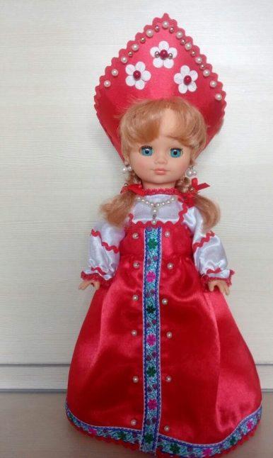 Кокошник для куклы своими руками