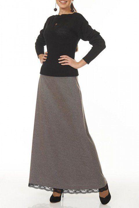 длинная юбка трапеция