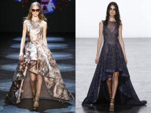 длинное асимметричное платье