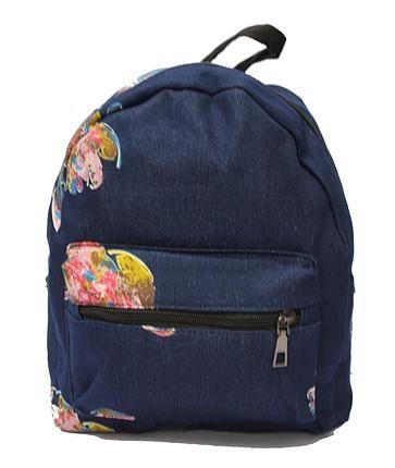 Рюкзак синий с картинками