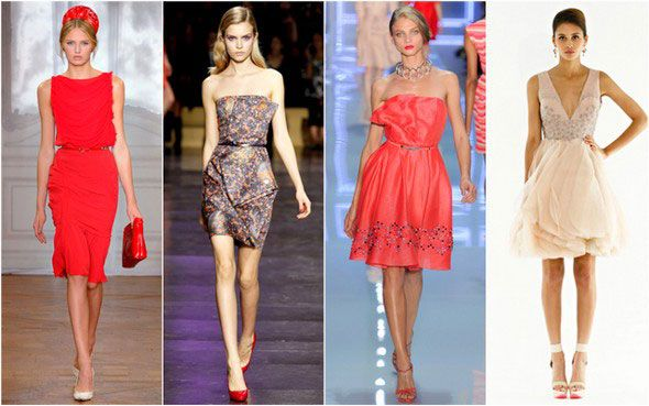 модные коктейльные платья
