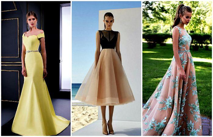 вечерние платья фасоны