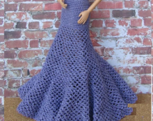 длинная юбка для барби