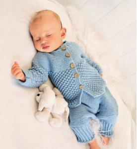 голубой костюм для новорожденного мальчика