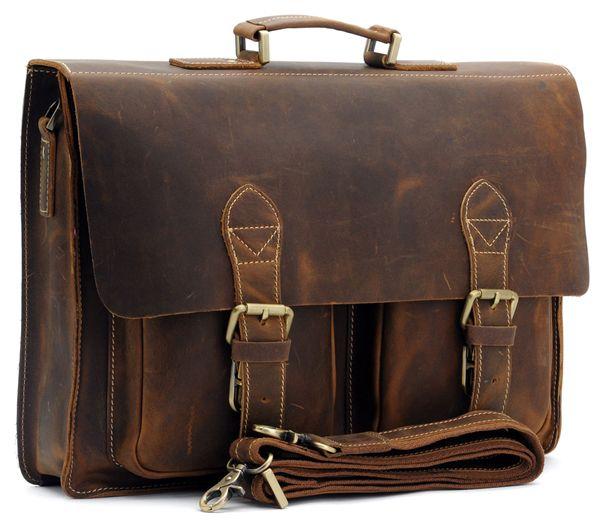 Кожаный портфель
