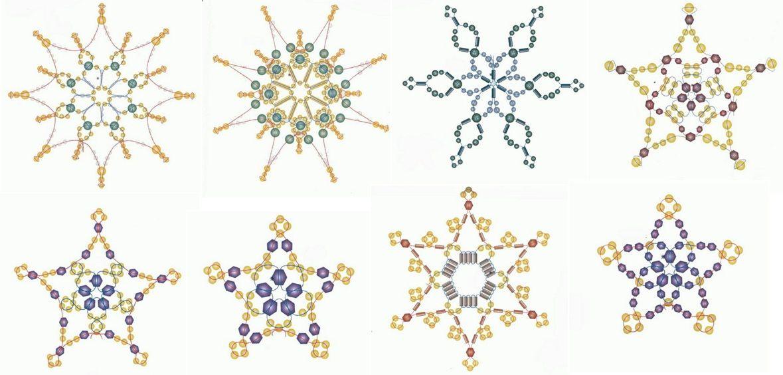 снежинки из бисера схемы