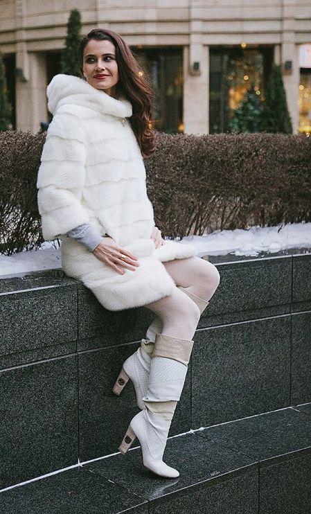 зимние на каблуке