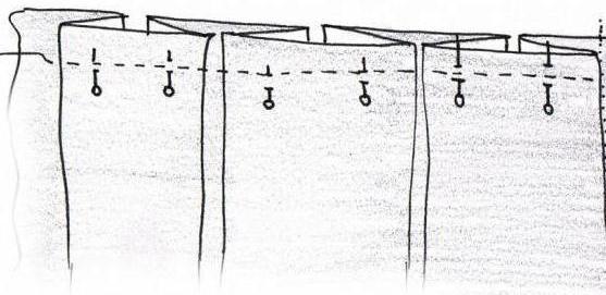 выкройка бантовой складки