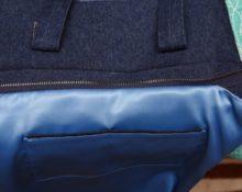 как вшить молнию в сумку с подкладкой