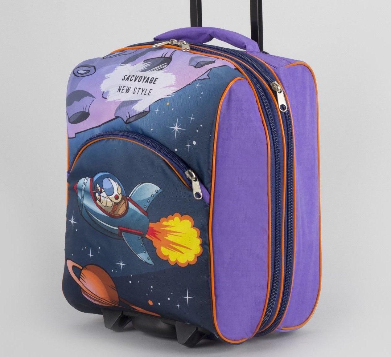 Фиолетовый чемодан