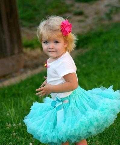 Зеленая юбка американка для девочки