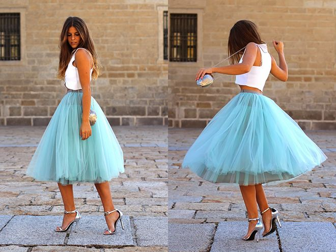 "Голубая юбка ""американка"" для девушки"