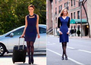 колготки под синее платье