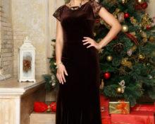 коричневое платье для новогодней вечеринки
