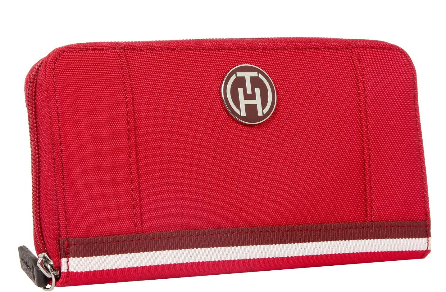 Красный кошелек из текстиля