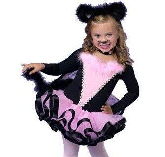 Костюм кошки черно-розовый