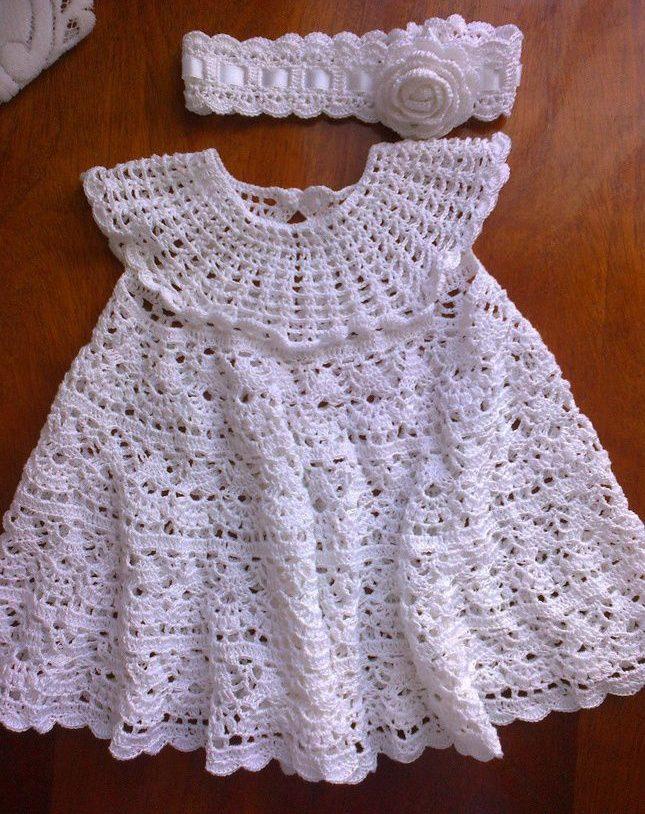 Крестильное платье в повязкой