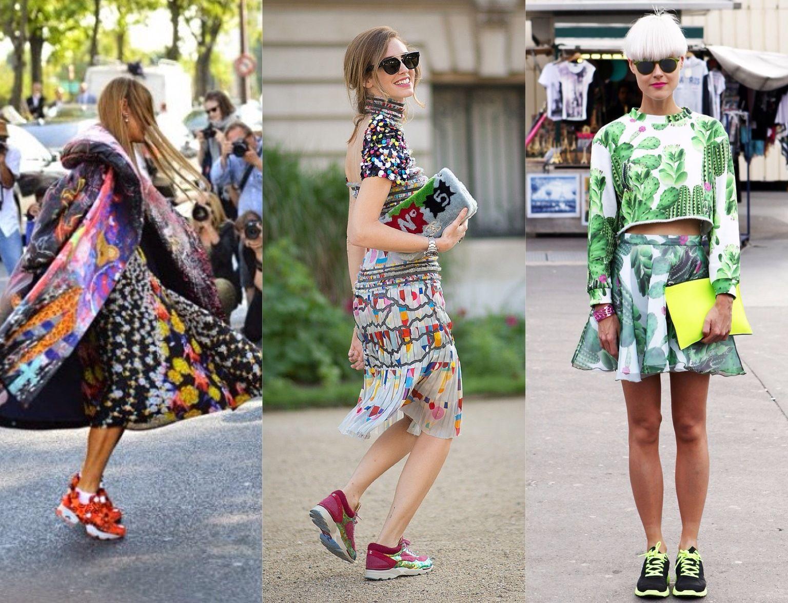 Цветные кроссовки на платформе