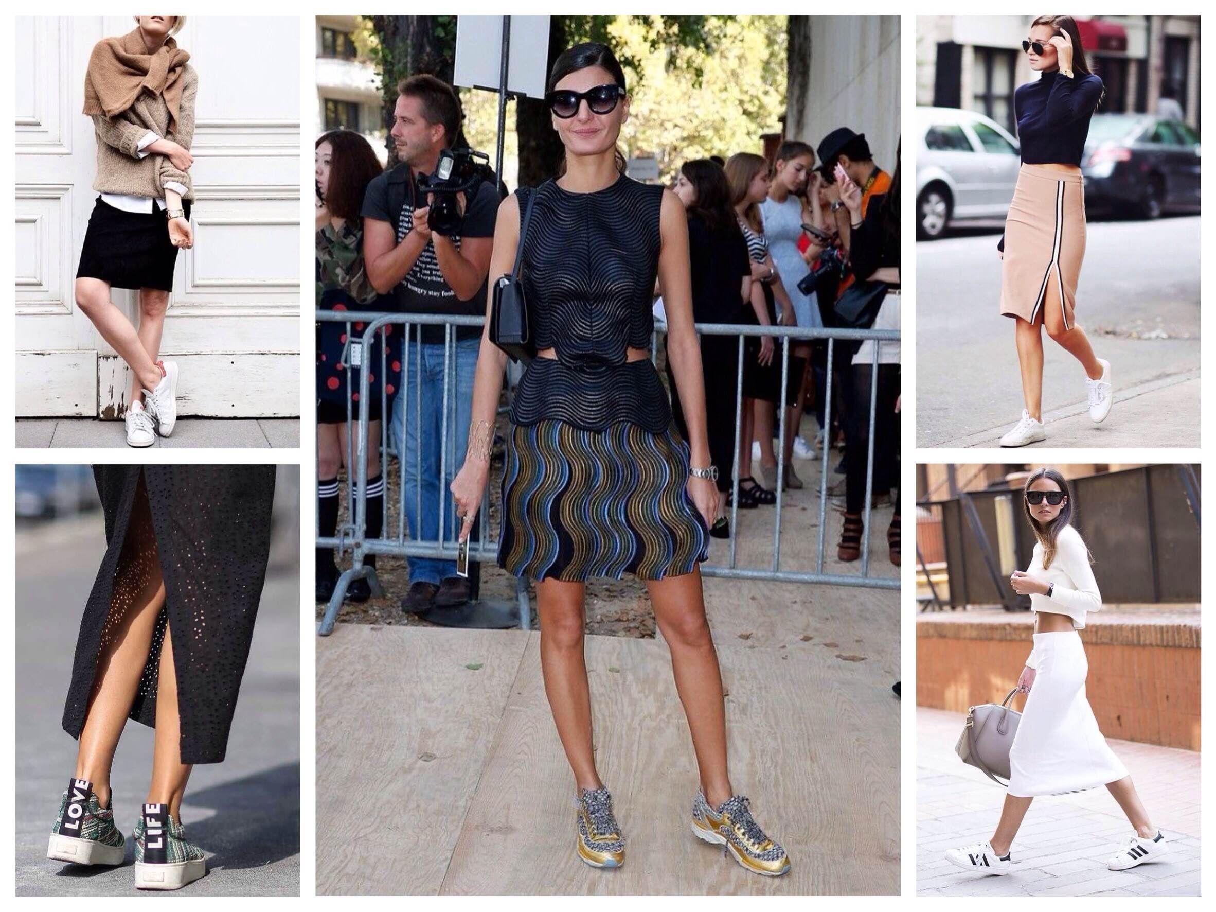 Разные образы с кроссовками женскими