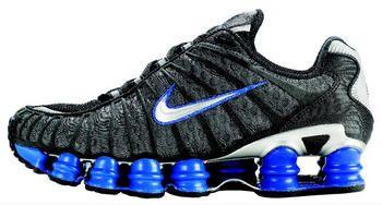 Черно-синие высокие кроссовки