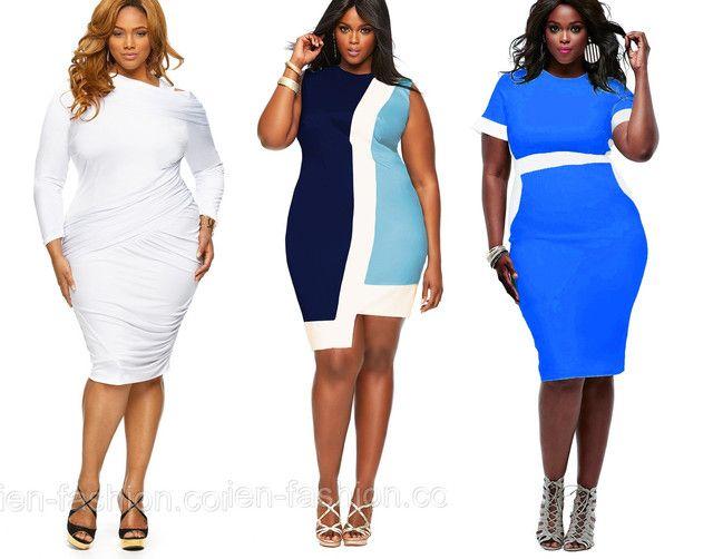 Цветные платья для полных женщин