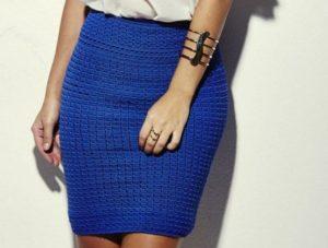 Вяжем юбку крючком для начинающих