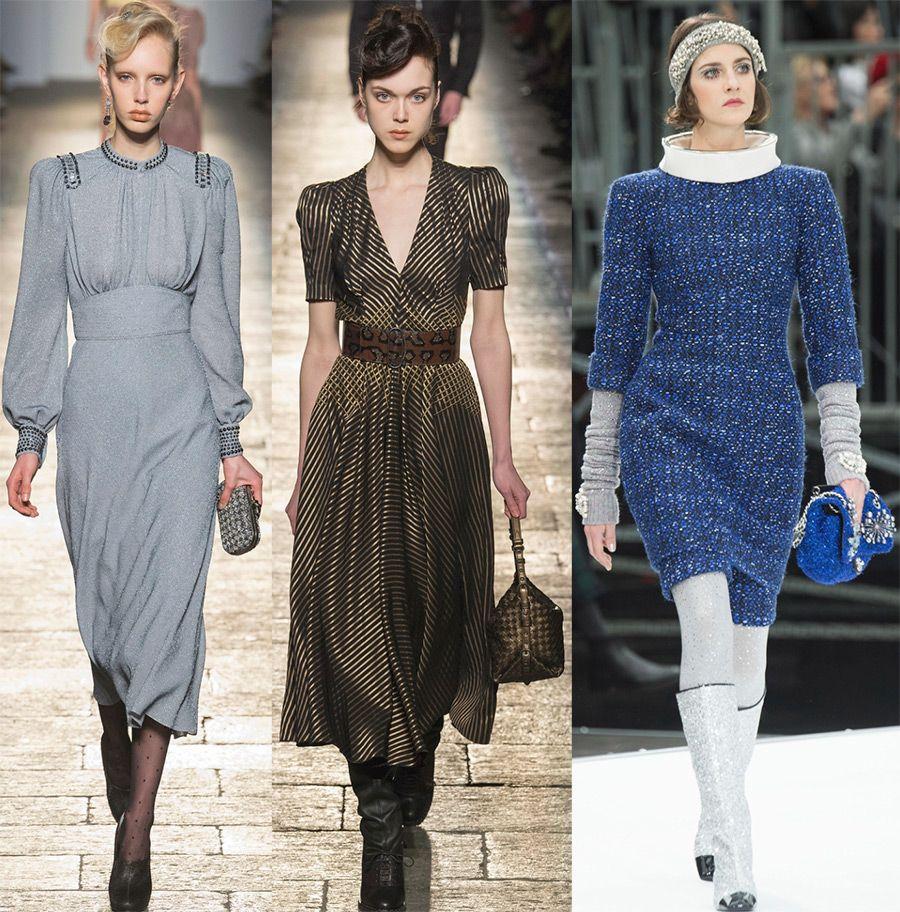 модели зимних платьев