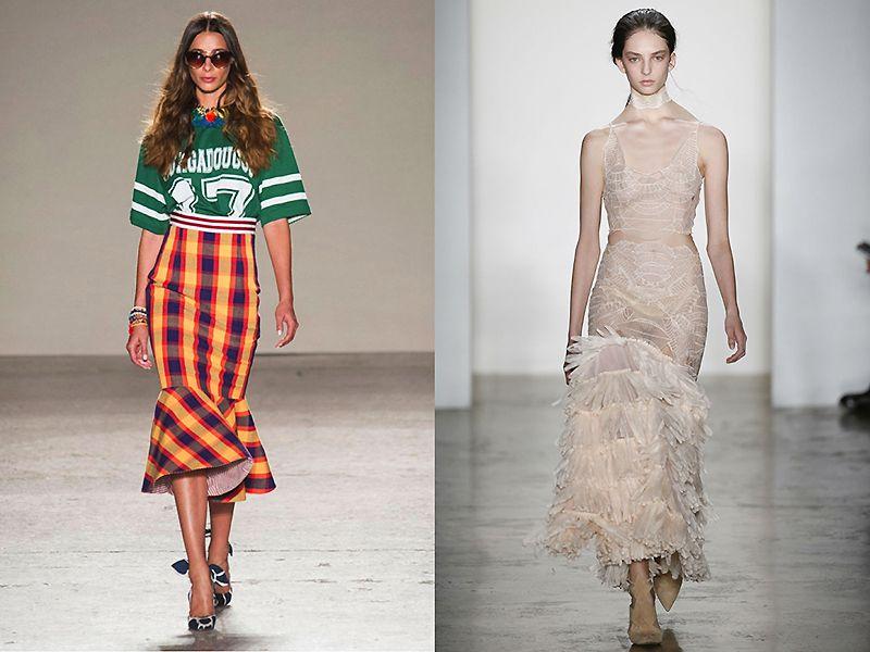 разные ткани для юбки годе