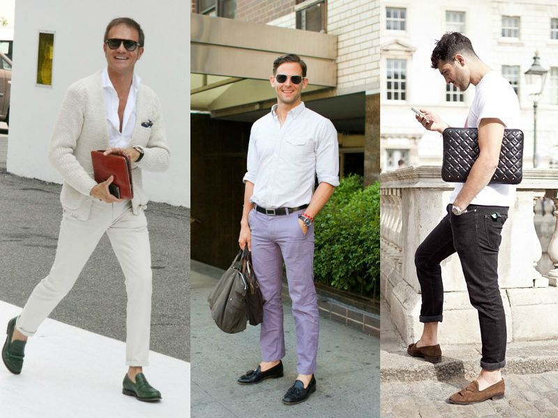 С чем носить мужские лоферы