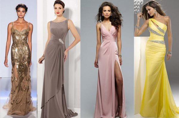 Модные показы прямые платья