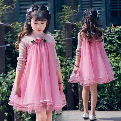 Розовое нарядное платье на Новый год