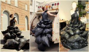 платье с надутыми пакетами