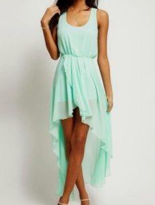 платье с разной длиной подола