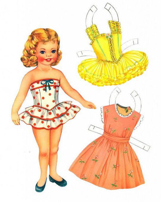 Платья для куклы из картона