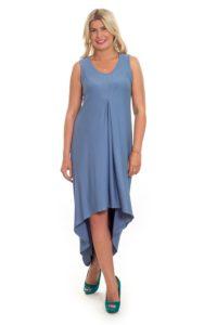 асимметричное платье для полных